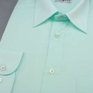 Pánská košile KLASIK s dl.ruk., v29-zelenkavá