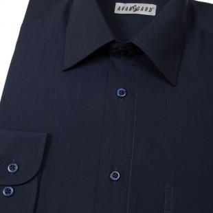 Pánská košile KLASIK s dl.ruk., v31-tmavě modrá