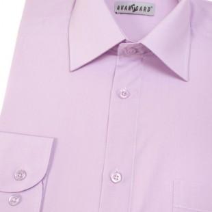 Pánská košile KLASIK s dl.ruk., v33-lila