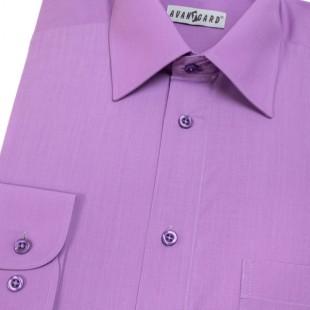 Pánská košile KLASIK s dl.ruk., v38-fialová