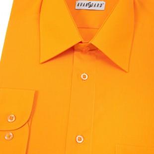 Pánská košile KLASIK s dl.ruk., oranžová