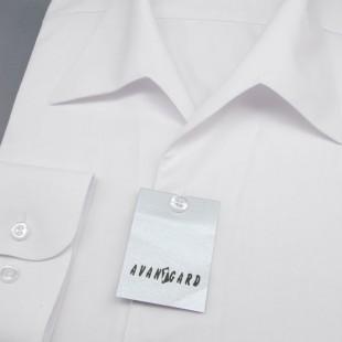 Pánská košile s rozhalenkou, dl.rukáv, v1-bílá