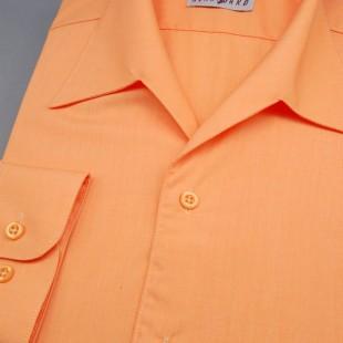 Pánská košile s rozhalenkou, dl.rukáv, v10-pomerančová