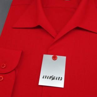 Pánská košile s rozhalenkou, dl.rukáv, v12-červená
