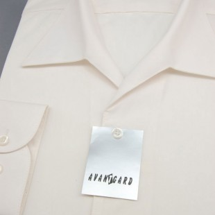 Pánská košile s rozhalenkou, dl.rukáv, v2-smetanová