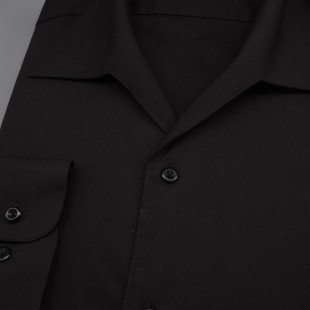 Pánská košile s rozhalenkou, dl.rukáv, v23-černá
