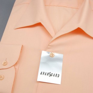 Pánská košile s rozhalenkou, dl.rukáv, v4-lososová