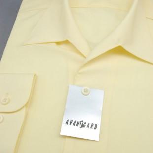 Pánská košile s rozhalenkou, dl.rukáv, v5-sv.žlutá