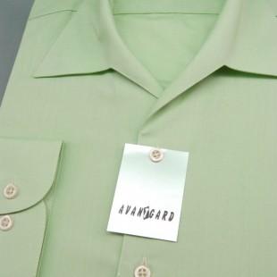 Pánská košile s rozhalenkou, dl.rukáv, v8-zelená