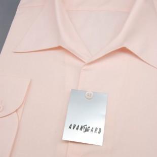 Pánská košile s rozhalenkou, dl.rukáv, v9-sv.růžová
