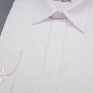 Pánská košile KLASIK s krytou légou, v1-bílá