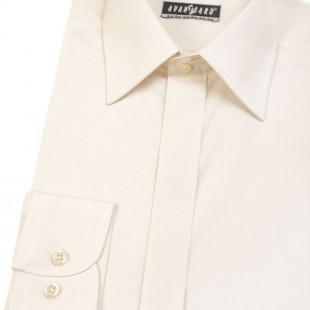 Pánská košile KLASIK s krytou légou, v2-smetanová