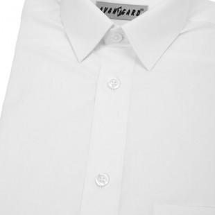 Chlapecká košile KLASIK, v1-bílá