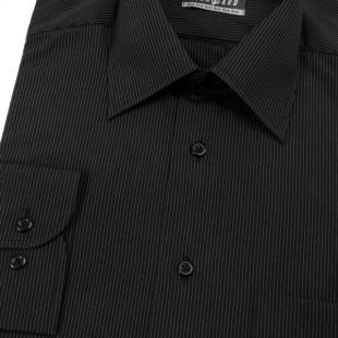 Pánská košile AVANTGARD dl. ruk., 2300- černá