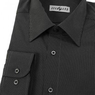 Pánská košile AVANTGARD dl. ruk., černá
