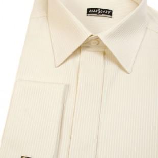 Pánská košile SLIM krytá léga, MK, 1103 - smetanová