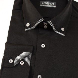 Pánská košile AVANTGARD LUX dl. ruk., černá