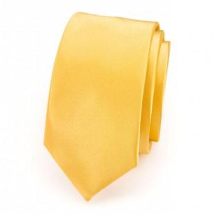 Kravata SLIM AVANTGARD LUX, žlutá