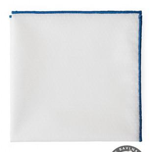 Kapesníček AVANTGARD LUX, bílá/modrá
