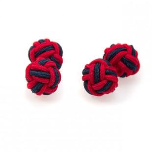 Knots - manžetové uzlíky AVANTGARD, červená/modrá