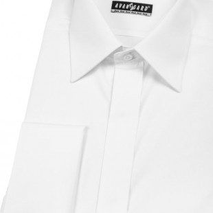 Pánská košile KLASIK MK s krytou légou, bílá