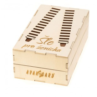 """Dřevěná dárková krabička na šle """"Pro ženicha"""", přírodní dřevo"""