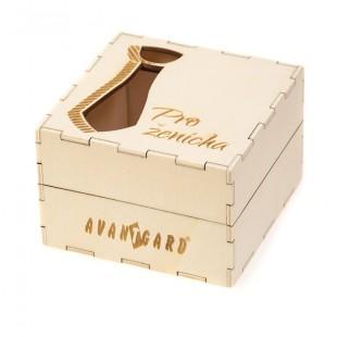 """Dřevěná dárková krabička """"Pro ženicha"""", přírodní dřevo"""