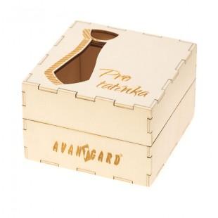 """Dřevěná dárková krabička """"Pro tatínka"""", přírodní dřevo"""
