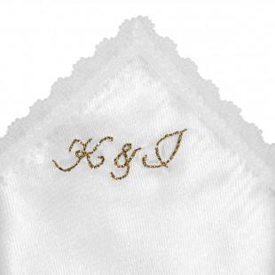 Ozdobný kapesníček se zlatou výšivkou