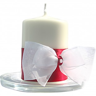 Svíčky na svatební stůl vínové