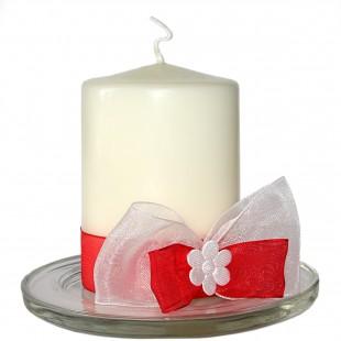 Svíčky na svatební stůl červené
