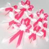 Vývazky tmavě růžové