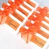 Jmenovky s mašličkou oranžové