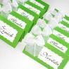 Jmenovky s mašličkou zelené
